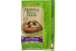 Morning Star Farms Veggie Burgers Tomato & Basil Pizza - 4 CT