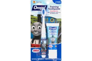 Orajel Training Toothpaste & Brush Thomas & Friends Tooty Fruity