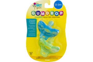 The First years Gumdrop Pacifiers 0-3m - 2 CT