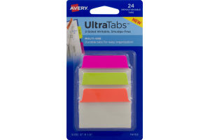 Avery Ultra Tabs Multi-Use Repositionable Tabs - 24 CT