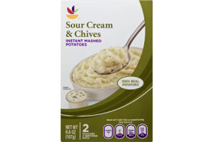 Ahold Instant Mashed Potatoes Sour Cream & Chive - 2 CT