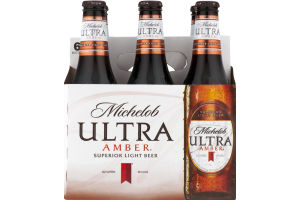 Michelob Ultra Superior Light Beer Amber - 6 PK