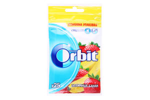 Гумка жувальна без цукру Полуниця-банан Orbit м/у 35г