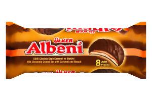 Батончик шоколадный с карамелью и печеньем Albeni Ülker м/у 344г