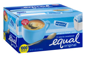 Equal Original 0 Calorie Sweetner Packets - 1000 CT