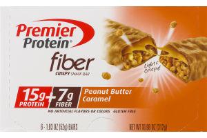 Premier Protein Fiber Crispy Snack Bar Peanut Butter Caramel - 6 CT