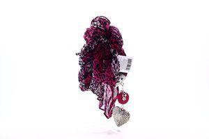 Делис шарф-колье Фіолетовий леопард 180см, 1шт