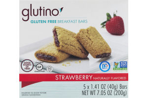Glutino Gluten Free Breakfast Bars Strawberry - 5 CT