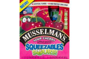 Musselman's Sour Cherry Apple Sauce Squeezables Sours! - 4 CT