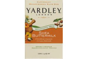 Yardley London Sensitive Skin Shea Buttermilk Moisturizing Bath Bar