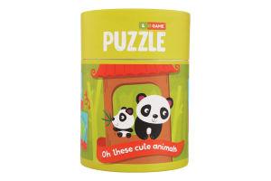 Пазл для дітей від 18міс №200109 Хвостаті друзі Зоологія для малят Mon Puzzle 1шт