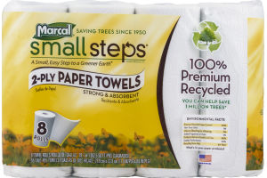 Marcal Small Steps 2-Ply Paper Towels - 8 CT