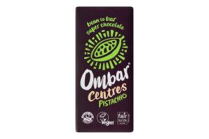 Шоколад черный Ombar пралине-фисташка 60% какао