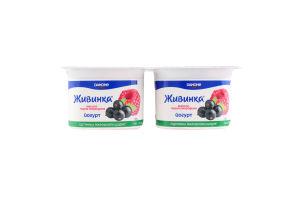 Йогурт 1.5% Малина-чорна смородина Живинка ст 4х115г