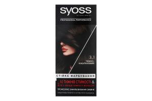 Крем-фарба для волосся Стійке фарбування Professinal performance №3-1 Syoss 1шт