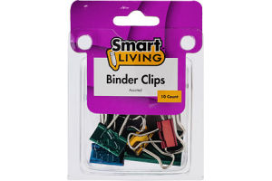 Smart Living Assorted Binder Clips - 10 CT