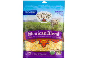 Organic Valley Mexican Blend Cheeses Finely Shredded