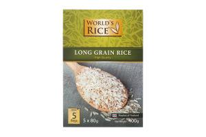 Рис длиннозернистый в пакетиках World's Rice к/у 5х80г
