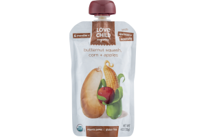 Love Child Organics Puree Butternut Squash, Corn + Apples