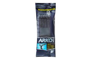 Станок для гоління з одноразовими лезами Pro 2 Men Arko 10шт