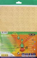 Набір голографічного кольорового паперу 8 аркушів 8 кольорів А4 №ZB.1917 Kids Line Zibi 1шт