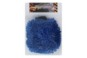 Перчатка для мытья автомобилей с микрофиброй Помічниця 1шт