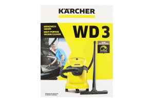 Пилосос господарський для сухого та вологого прибирання WD 3 Karcher 1шт
