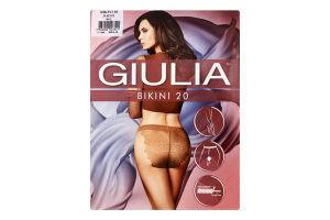 Колготки жіночі Giulia Bikini 20den 4-L daino
