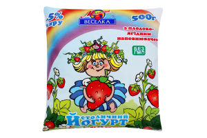 Йогурт 1.5% с плодово-ягодным наполнителем Столичный Молочна веселка м/у 500г