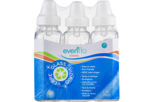 Evenflo Classic Glass Bottles 0m+ - 3 CT