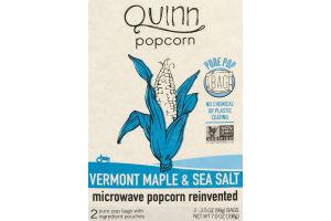 Quinn Vermont Maple & Sea Salt Microwave Popcorn - 2 CT