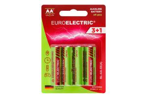 Батарейки лужні АА 1.5V LR6 Euroelectric 4шт