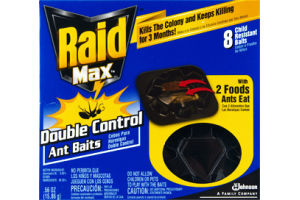 Raid Max Double Control Ant Baits - 8 CT