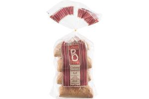 La Brea Bakery Artisan Sandwich Rolls Ciabatta Bread - 4 CT