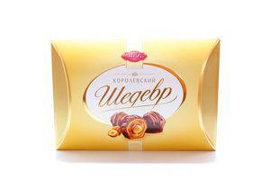 Конфеты АВК Шедевр Королевский ореховая начинка-цел фундук 300г