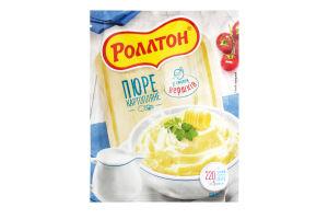 Пюре быстрого приготовления картофельное со вкусом сливок Роллтон м/у 37г