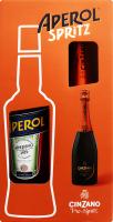 Набор Аперитив 0.7л 11% Aperol+Вино игристое 0.75л 11.5% белое сухое Pro-Spritz Cinzano 1шт