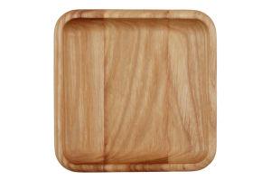 Тарілка-блюдце для закусок Квадрат Woodstuff 1шт