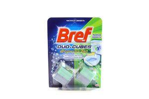 Кубики для унитаза 2в1 Хвойная свежесть Duo-Cubes Bref 2х50г