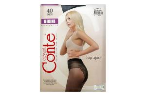 Колготки жіночі Conte elegant Bikini №8С-47СП 40den 3-M nero