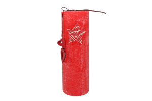 Свечка 7×20см 645г ярко-красная Фокстейл 1шт