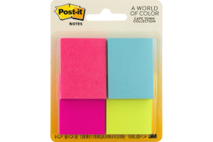 Post-it Notes Cape Town Collection - 4 PK