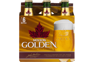 Molson Premium Beer Golden - 6 PK