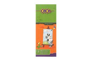 Краски акварельные медовые без кисточки 12 цветов №ZB.6501 Zibi 1шт