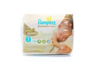Подгузники детские 2-5кг Newborn Premium сare Pampers 33шт