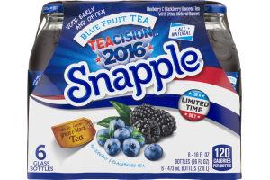 Snapple Teacision 2016 Blue Fruit Tea Bottles - 6 CT