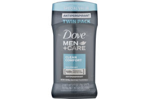 Dove Men + Care Antiperspirant Clean Comfort - 2 PK