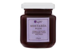 Добавка фруктовая Слива в горчично-сахарном сиропе Мостарда Cherrytwig с/б 170г