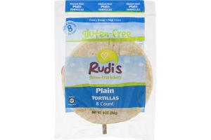 Rudi's Plain Tortillas Gluten Free - 8 CT