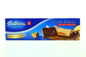 Вафлі Bahlsen First Class чорний шоколад 125г